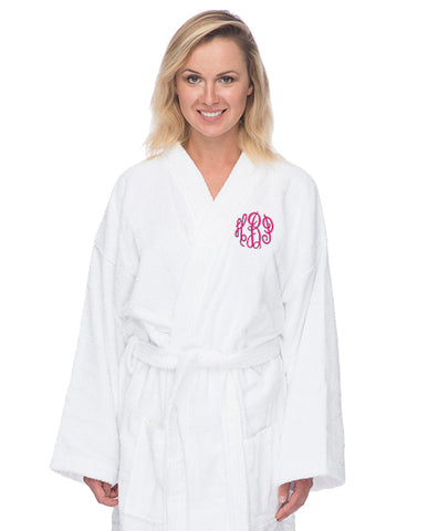 Monogrammed Long Terry Robe