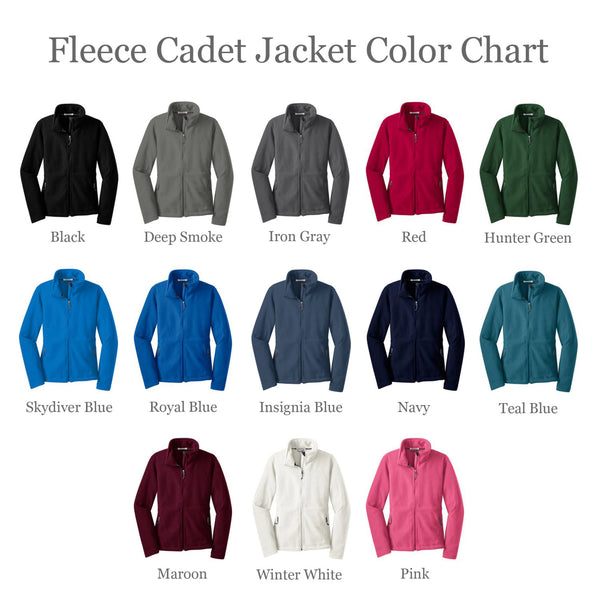 Women's Monogrammed Fleece Jacket