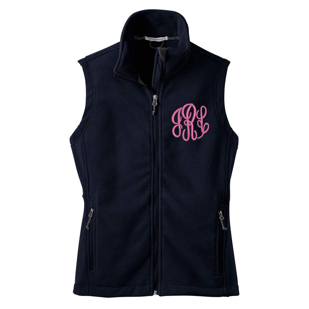Women's Monogrammed Fleece Vest