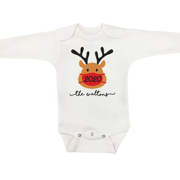 Rudolph Face Mask Matching Christmas Family Pajamas