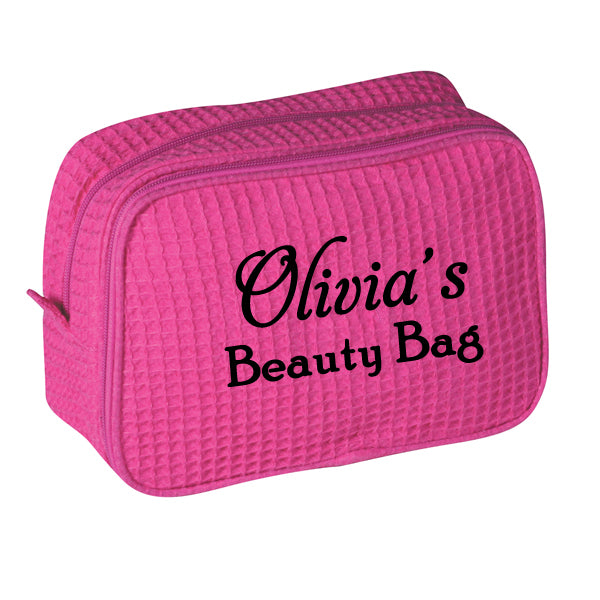 Personalized Waffle Cosmetic Beauty Bag