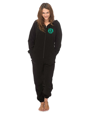 Monogrammed Adult Fleece Lounger Onesie