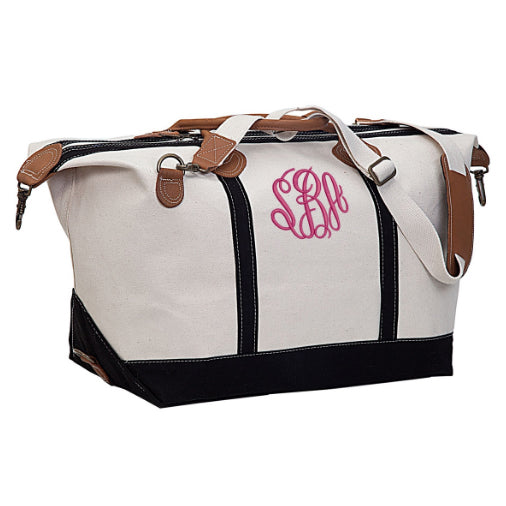 Monogrammed Weekender Travel Bag