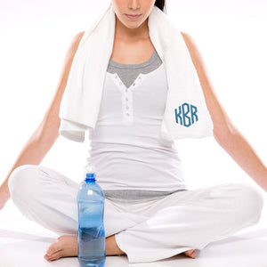 Monogrammed Yoga Gym Towel