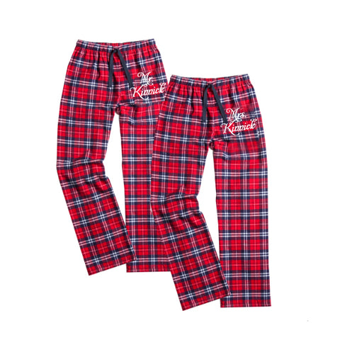 Personalized Mr. and Mrs. Flannel Set