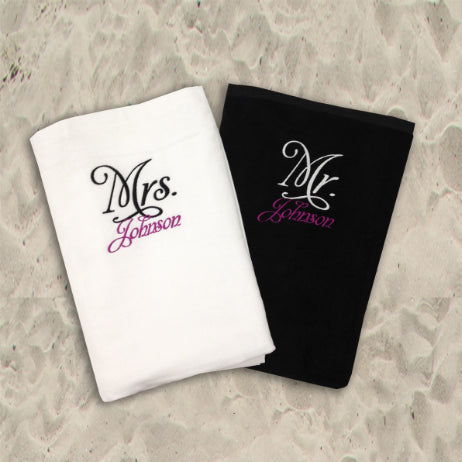 Personalized Mr. and Mrs. Towel Set