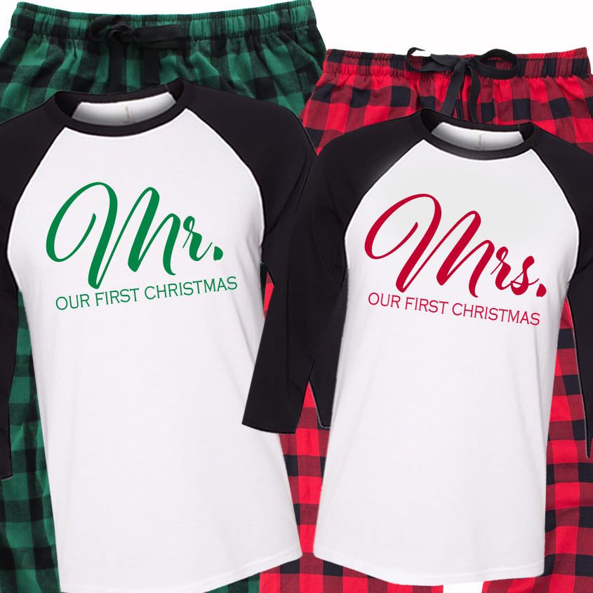 Our First Christmas Pajama Set - Buffalo Plaid