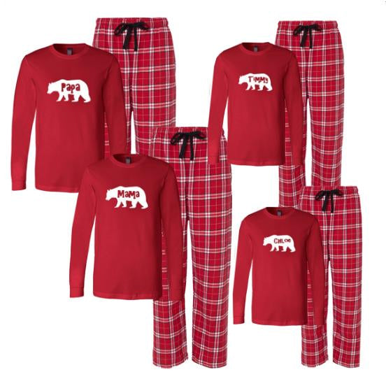 Christmas Mama and Papa Bear Matching Family Pajamas