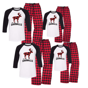 Personalized Moose Family Christmas Pajama Set - KIDS ONLY