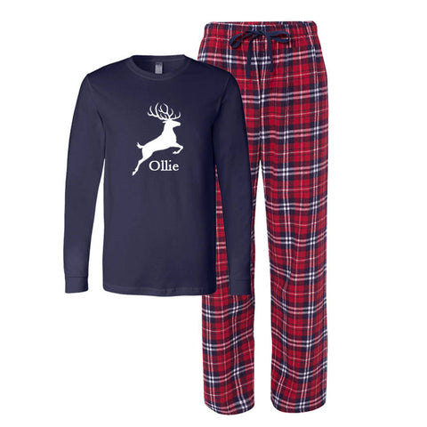 Personalized Buck Flannel Pajama Set