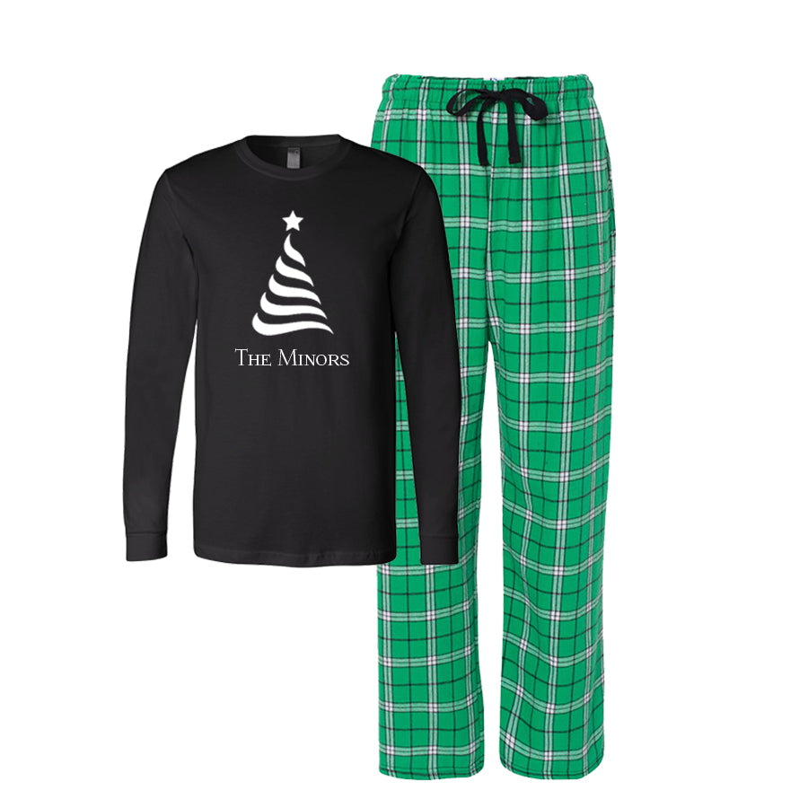 Personalized Christmas Tree Flannel Pajama Set