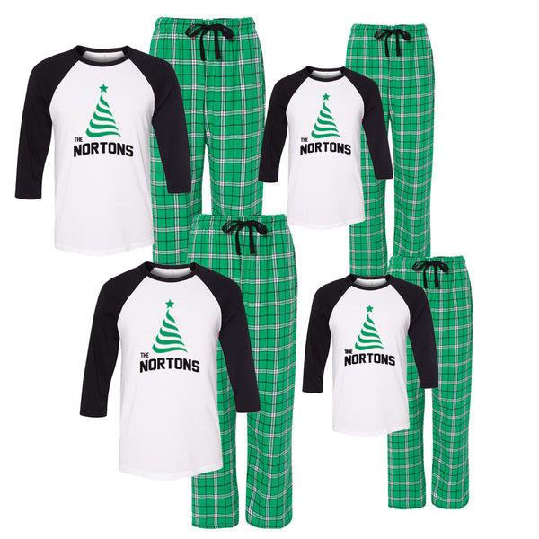 Personalized Christmas Tree Matching Family Pajama Set