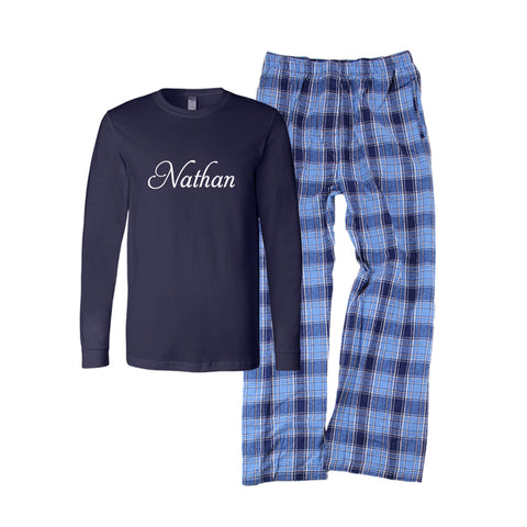 Personalized Hanukkah Flannel Pajama Set