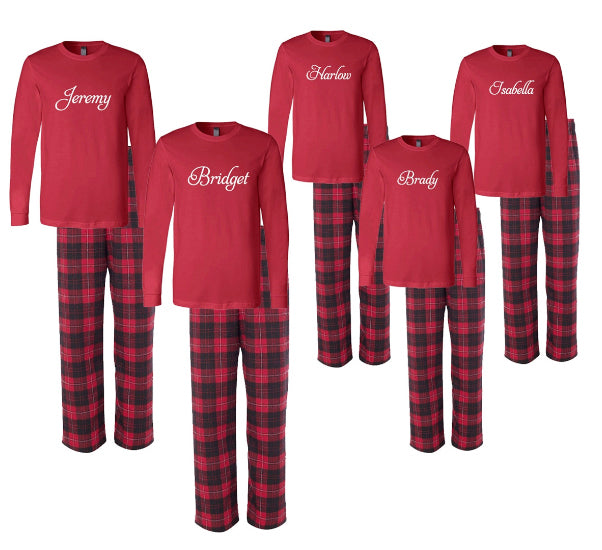 3f0982e040 Personalized Matching Family Christmas Pajamas with Names – Cotton ...