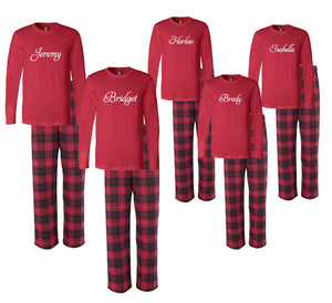 Personalized Matching Family Christmas Pajamas with Names