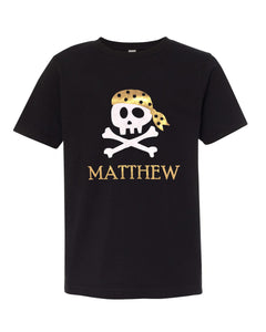 Personalized Pirate Unisex T-Shirt