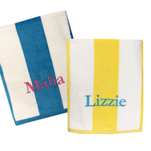 Personalized Premium Striped Cabana Beach Towel
