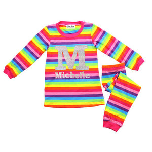 Personalized Rainbow Sherbet Pajamas
