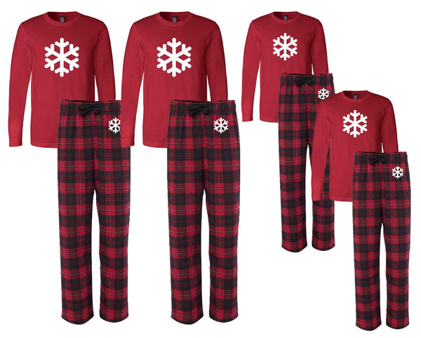 Snowflake Matching Family Pajamas