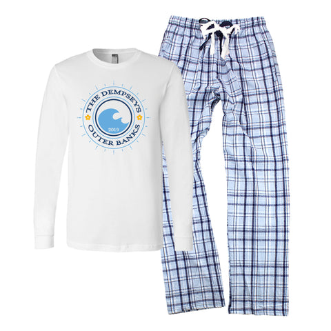 Personalized Family Vacation Pajamas - Summer Waves