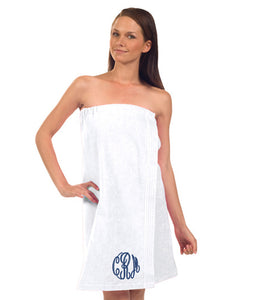 Monogrammed Terry Velour Spa Wrap