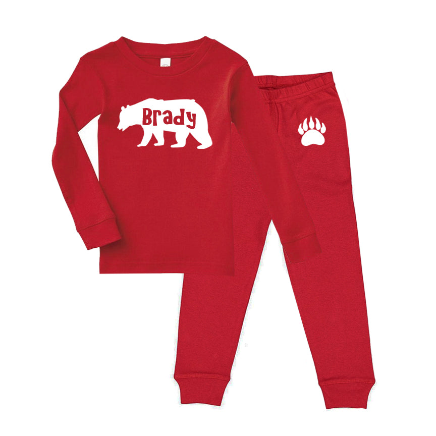 Personalized Christmas Bear Pajama Set - Toddler