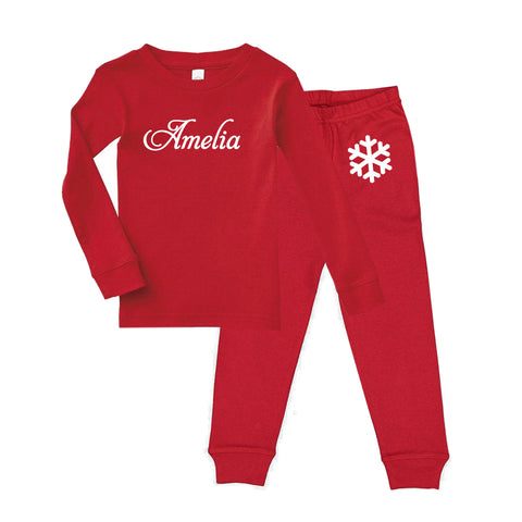 Personalized Snowflake Pajama Set