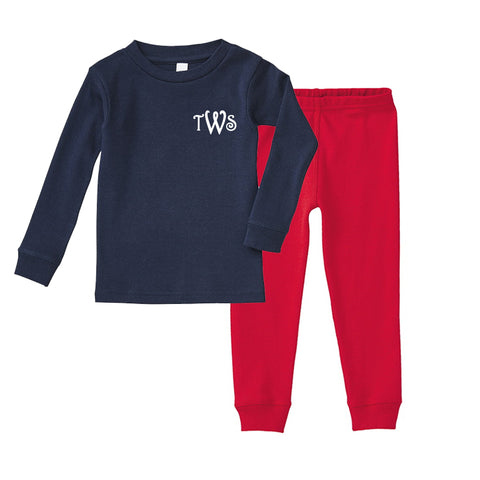 Monogrammed Toddler Pajamas
