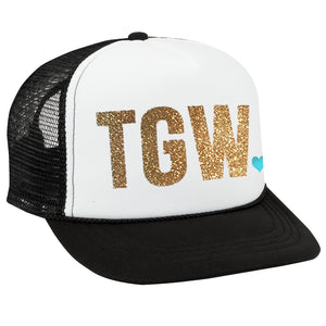 Custom Trucker Hat - BOLD TEXT with HEART