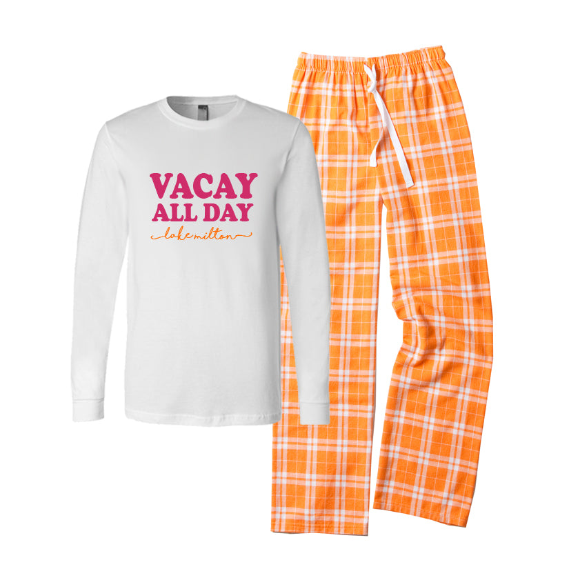Personalized VACAY ALL DAY Pajama Set