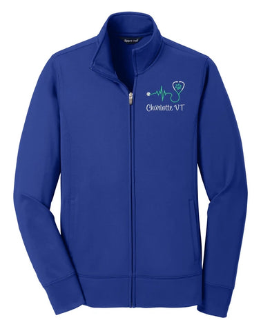 Ladies Sport-Wick® Fleece Vet Tech Track Jacket