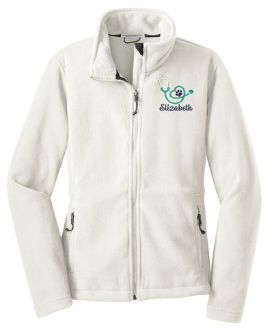 Personalized Vet Tech Fleece Jacket - LADIES