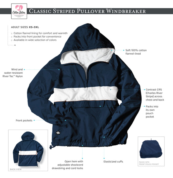 Custom Logo Striped Windbreaker