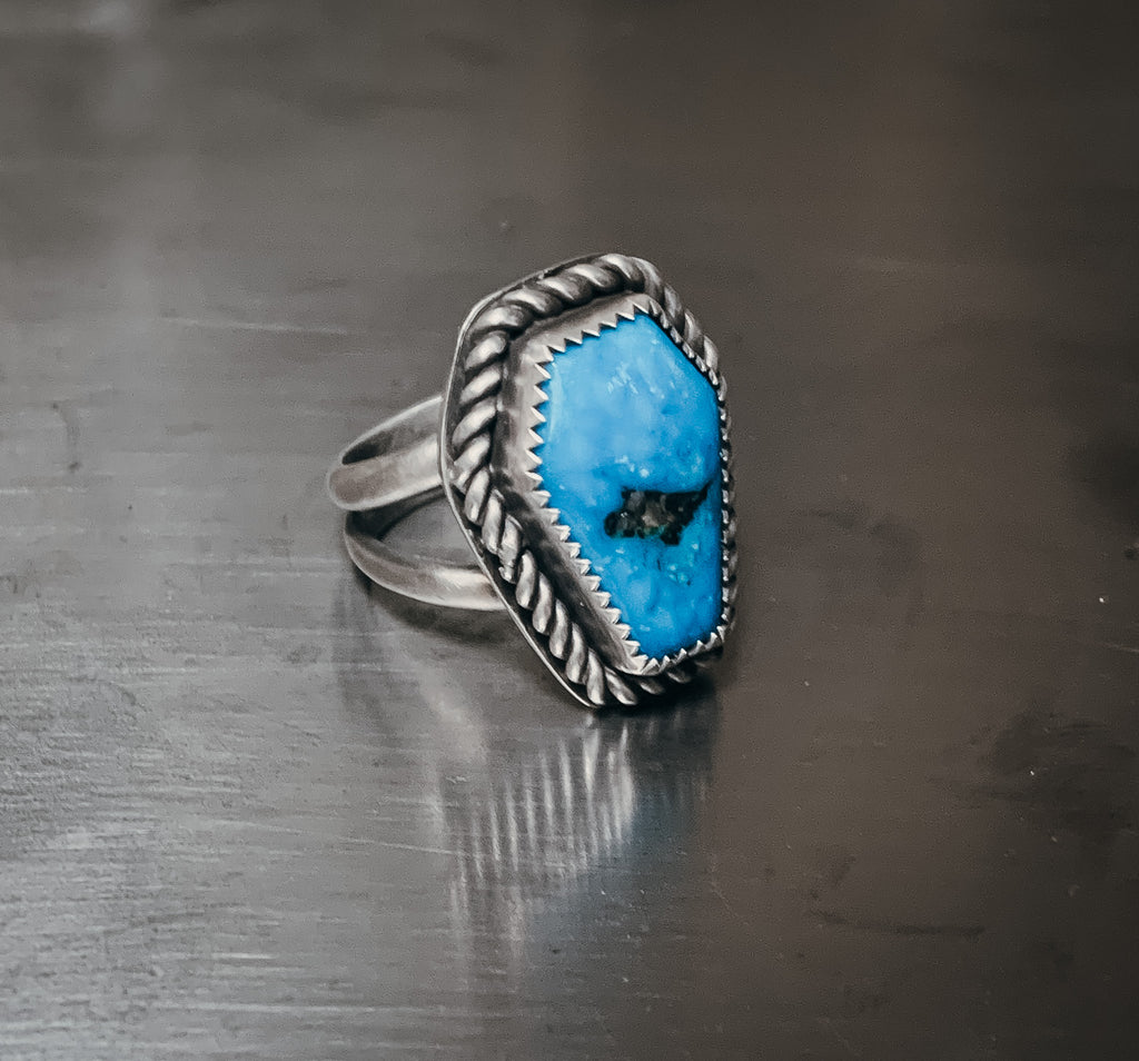 Double banded coffin ring- size 7