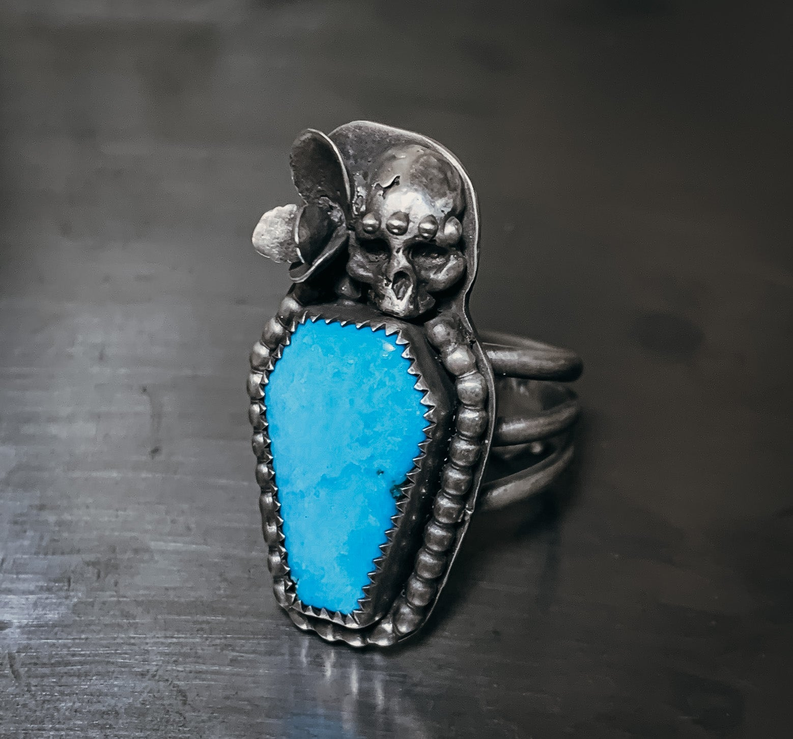 Kingman coffin ring- size 8.5