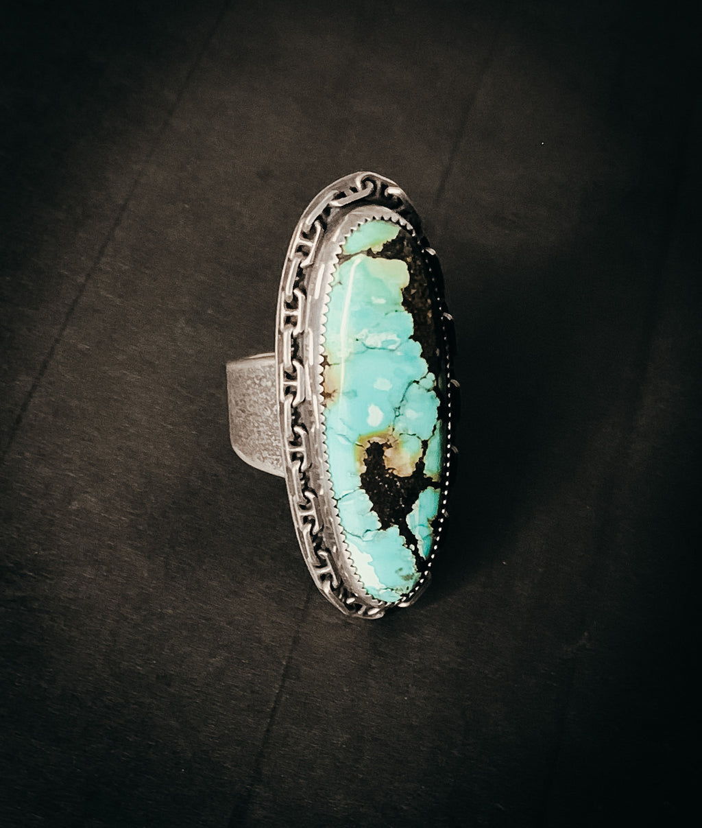 Chunky hubei turquoise ring- size 11