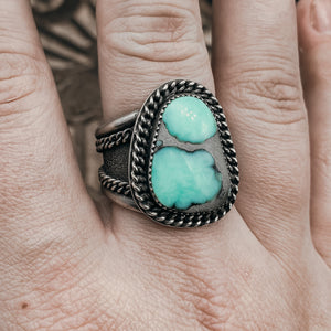 Chain and variscite ring- size 12