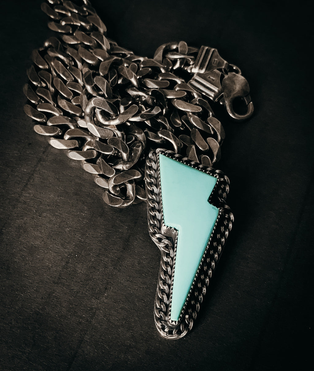 Heavy chain bolt necklace