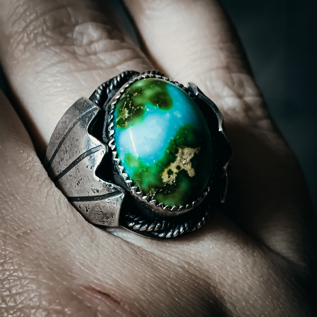 Sonoran gold globe ring - size 10