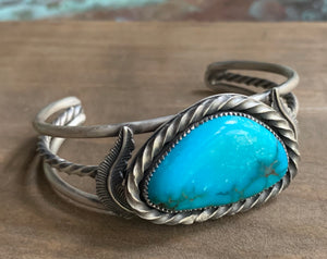 Triple band turquoise cuff