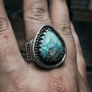 White water turquoise ring size 11.5