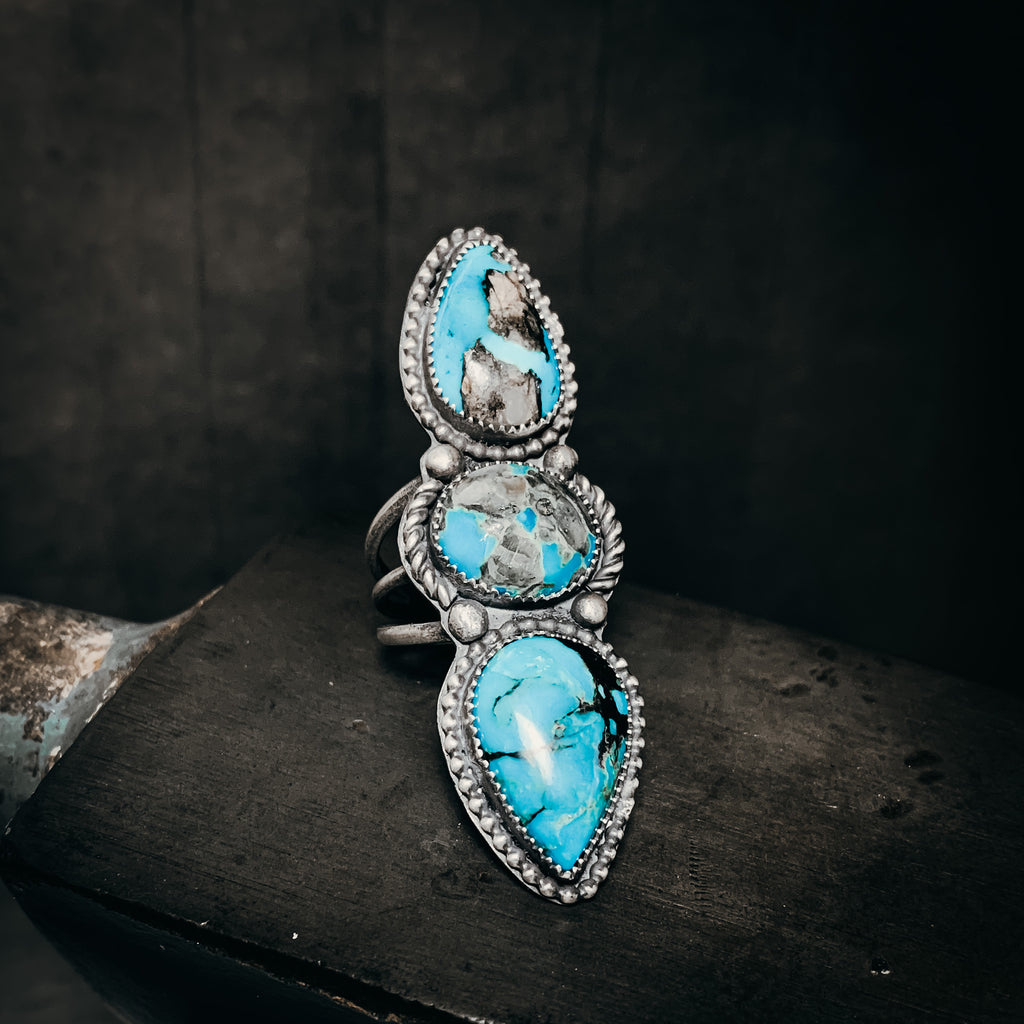Morenci turquoise statement ring size 8.5