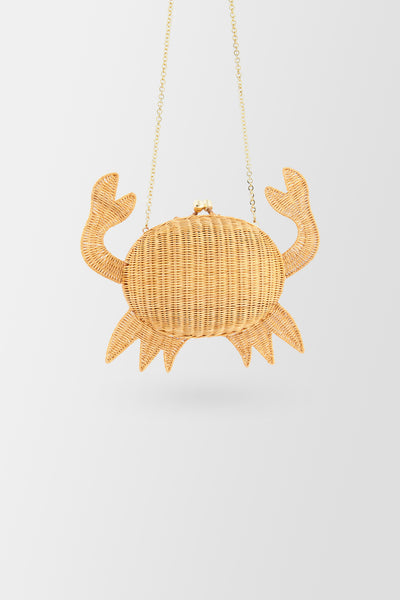 Serpui Crab handbag Honey