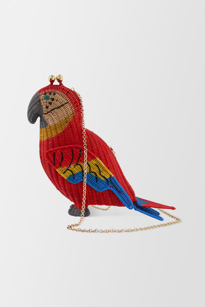 Serpui Macaw handbag Red