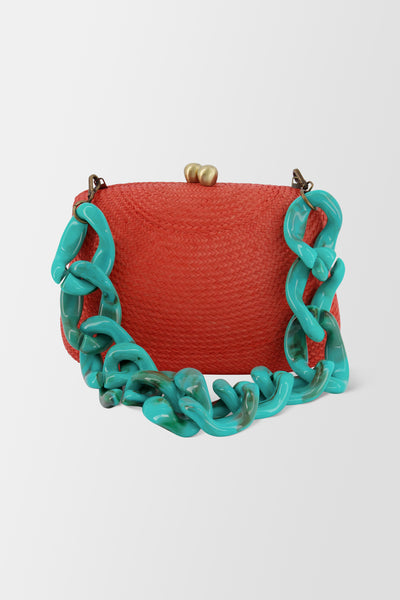 Serpui Blair Bun handbag Coral