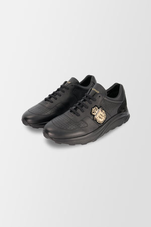 Billionaire Runner Crest shoes Black/Gold
