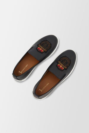 Billionaire Slip On Crest shoes Black