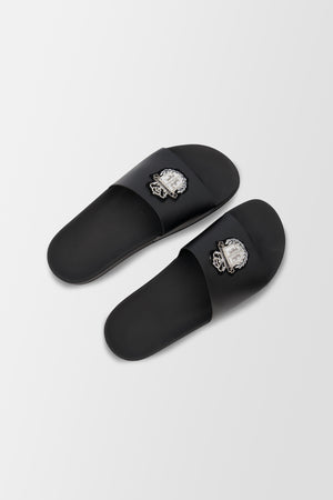 Billionaire Flat Sandals Crest shoes Black