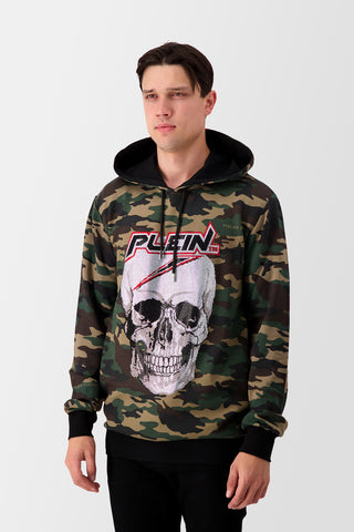 Philipp Plein Hoodie Sweatshirt Space Plein (with crystals) Camo