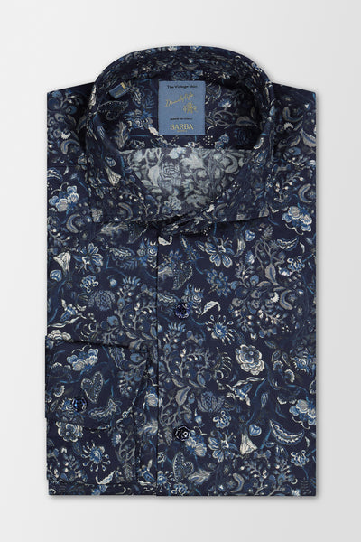 Barba Napoli Dandylife Casual Shirt Blue